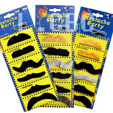 12pcs x 70's Fake Moustaches/Mustache Stylish Black/Mix Fancy Party Custome