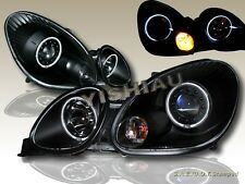 Fit For 1998-2005 Lexus GS 300/400/430 Black Projector Headlights Twin Halo CCFL