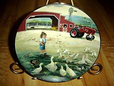 Country Companions Feeding Time Little Farmhands Donald Zolan Danbury Mint Plate