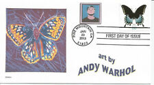 ANDY WARHOL  BUTTERFLY   SELF PORTRAIT     FDC- DWc CACHET