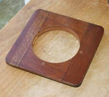 "round edge wooden lensboard 3.5 x 3.5 ""  54mm hole"