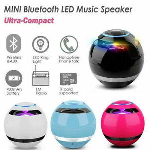 Wireless LED Mini Bluetooth Speaker Portable Super Bass Stereo USB/FM/TF Radio