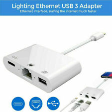 Lightning to RJ45 Ethernet LAN Camera OTG USB 3.0 Adapter Cable for iPhone/iPad