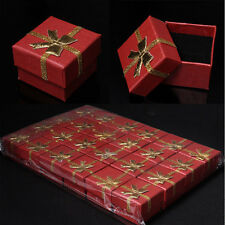 New 24 Boxes Jewelry Gift Ring Earrings Pendant Case Boxes Mignon Square Lots