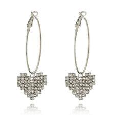Jewelry Circle Wedding Drop Dangle Love Heart Tassel Hook Crystal Earring