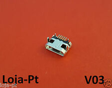 V03 - Micro USB Charging Port DC Power Socket 5 Pin for Fix Phones and Tablets