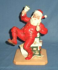 Vtg 1981 Norman Rockwell Ringing in Good Cheer Porcelain Santa Claus Figurine