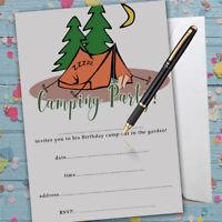 Paintball Party Invitations Fête d/'Anniversaire X 8 Avec Enveloppes-écrire votre propre
