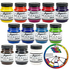 Jacquard Textile Color 12 Assorted Pigments Fabric Ink Airbrush Spray Paint Set