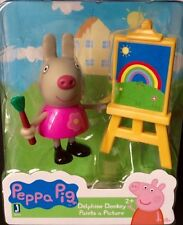 * Nick Jr Peppa Pig * DELPHINE DONKEY PAINTS A PICTURE FIGURE & ACCESSORIES