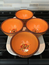 """( 4 ) Home & Garden Party Stoneware Tuscan pattern Soup/Cereals Bowls 6"""""""