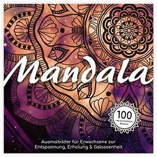 Mandala großes Malbuch für Erwachsene 100 Motive Premium Ausmalbuch 21 x 21 cm