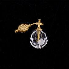 1:12 Plastic Dollhouse Miniature Room Decor Transparent Perfume Bottle Toy SL