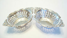 BIRKS - Pair of Pierced Sterling Silver Candy Dishes - Canada - Mid 20th Century