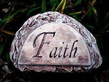 "gostatue plastic concrete plaster mold faith rock mould free standing 7"" x 4.75"""