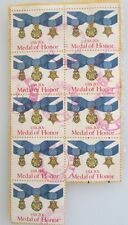 1983 Scott 2045 Medal of Honor nine used and cancelled 20 cent stamps
