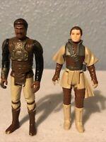 Vintage Star Wars Leia Boushh Disguise & Lando Skiff Guard 1982-83 MI Hong Kong