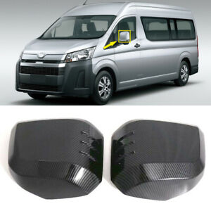 Fit for Toyota HiAce Granvia 2019 2020 Car Side Door Rearview Mirror Cover Trim