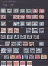 San Marino 1897 - 1945. Selezione di francobolli del periodo. Annullati.