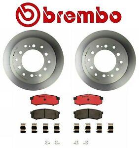 Brembo Rear Brake Kit Coated Disc Rotors & Ceramic Pads Toyota 4Runner 2003-2009