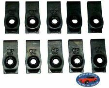 NOSR GM Body Fender Frame Grille Valance 1/4-20 Bolt U Clip Panel J Nut 10pcs C