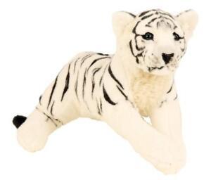 Plüschtier XL Weisser Tiger 60 cm Kuscheltier Softtier Stofftier Raubkatze