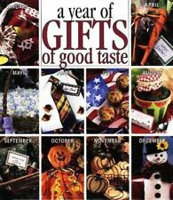 Year of Gifts of Good Taste Holidays Cookbook Recipes Leisure Arts Staff 1998