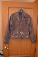 Ladies Brown and Pink Jacket Coat Size 10