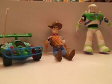 Disney Toy Story set of 3 toys:  Woody, Buzz Lightyear, and Andy's RC Race Car