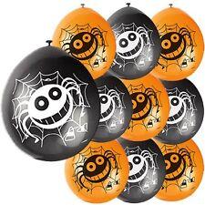 10x Araña de Halloween Globos Negro & Naranja Mezcla Halloween Barato Decoración