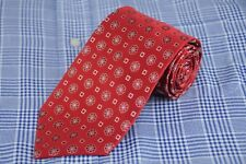 Joseph & Lyman Men's Tie Red White & Blue Dot Woven Silk Necktie New