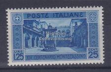 MC 1929 Regno Montecassino 1,25+25c nuovo con gomma originale integra MNH**