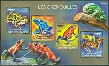 CENTRAL AFRICA  2014 FROGS SHEET MINT NH
