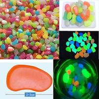 50 Glow in Dark Pebbles Stone Home Garden Walkway Aquarium Fish Tank Valentine
