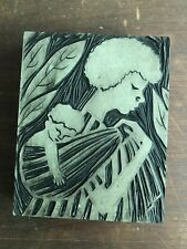Antique Boxwood Hand Carved Printing Block Annette Shevelson Troxel