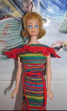 1962 JAPAN VINTAGE Barbie~BLONDE *MIDGE* DOLL~1963 STRIPED KNIT DRESS~BELT+HEELS