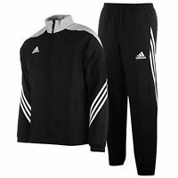 Mens Adidas Tracksuit Sereno Full Zip Jogging Bottoms Tops Trouser Black