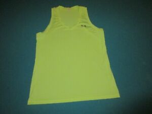 UNDER ARMOUR Womens Neon Yellow Tank Top Size Medium M