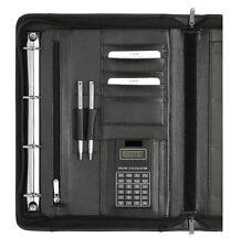 Schreibmappe Konferenzmappe mit Reißverschluss Ringmechanik Leder 2631-