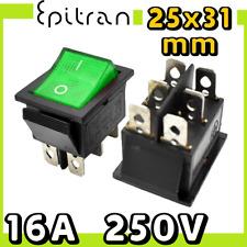 Interruttore bipolare 16A luminoso deviatore a bilanciere verde da 220V 220 volt