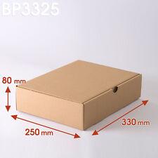 Lot de 25 Boîtes postales brunes 330x250x80 mm