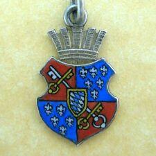Antique German Enamel Silver Travel Shield Crest Charm Berchtesgaden Bavaria