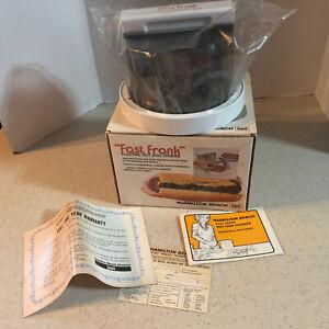 "HAMILTON BEACH SCOVILL "" FAST FRANK "" ELECTRIC HOT DOG COOKER  # 489   NIB"