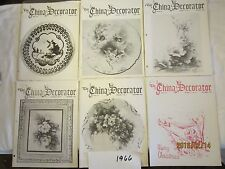 Lot of 6 CHINA DECORATOR Magazines 1966 Jan June Aug Sep Nov Dec [Y71a]