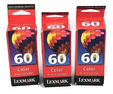 (Lot 3) 17G0060 LEX 60 Genuine New Lexmark Color INK JetPrinter Z12 Z22 Z32 $