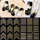 Gold 3D Line Pattern Nail Art Manicure Tips Sticker Decal DIY Decoration 1 sheet
