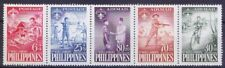Philippines 1959 MNH 5v Strip, Scouts, Fire, Cycling, Bikes, Archery Jamboree