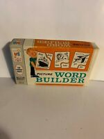 1966 Teaching GAME Picture Word Builder Educational  w Org Box VTG  Primary