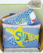 Whale Shark - Applique Sewing Craft PATTERN - Cushion Shabby Chic Fox