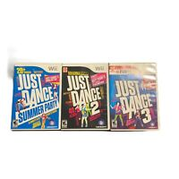 Just Dance 2 3; Summer Party Lot - Nintendo Wii Game Bundle 1-4 players Complete